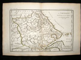 Barthelemy 1790 Antique Map Thessaly, Greece
